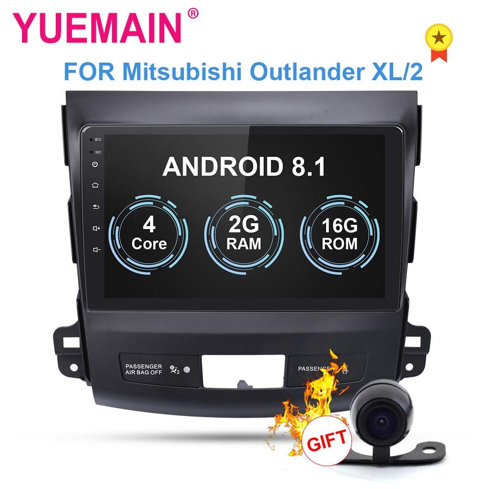 Lecteur multimédia DVD de voiture YUEMAIN pour Mitsubishi Outlander XL 2005-2014 2din Android 8.1 Radio magnétophone Navigation GPS