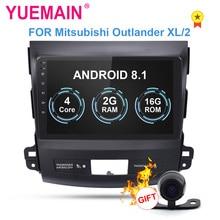 YUEMAIN Car DVD Multimedia player Per Mitsubishi Outlander XL 2005-2014 2din Android 8.1 Radio Registratore a Nastro di Navigazione GPS
