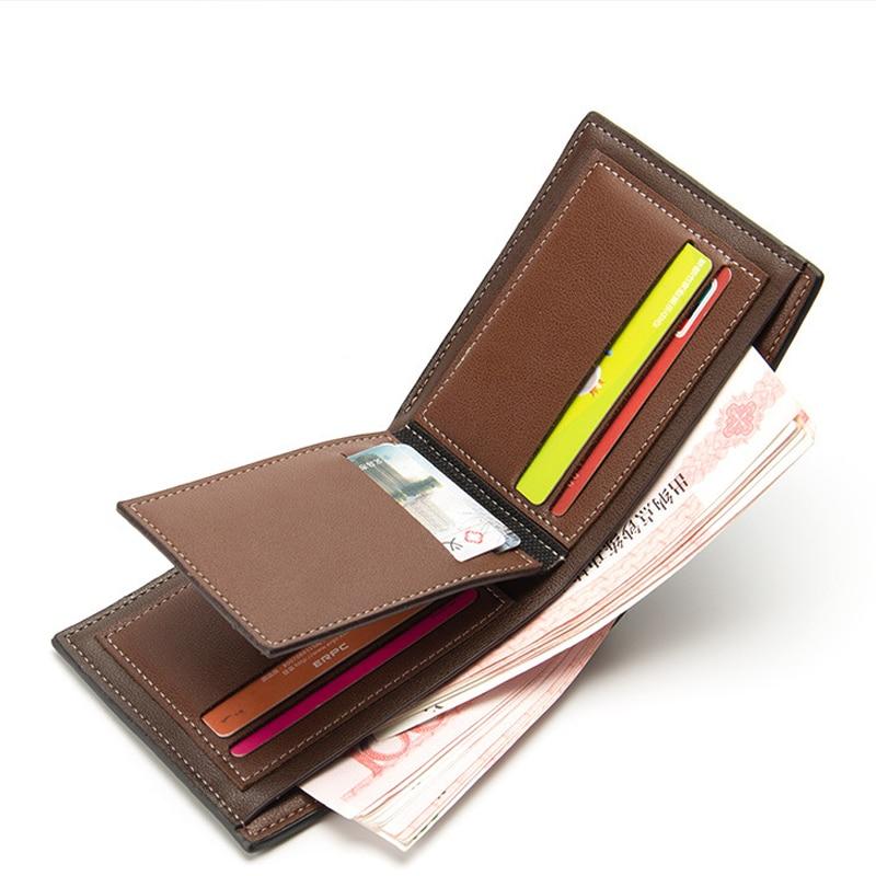 Leather Men Wallets Credit Card Holder Purse PU Card Men Money Bag Cash Gift Maschio Portafoglio Famous Brand Magic Purse W067