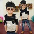 Free shipping   Fashion autumn cotoon children's clothes boy's T-shirt  for boy's clothing kids long sleeve t shirt wholesale