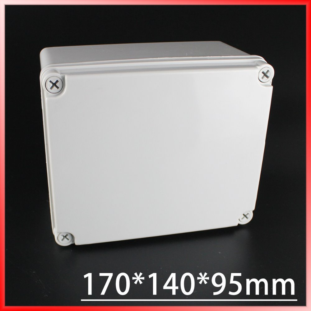 170*140*95mm IP67 Waterproof Plastic Electronic Project Box w/ Fix Hanger Plastic Waterproof Enclosure Box Housing Meter Box waterproof box abs switch box plastic box electronics 200 200 95mm ip66 ds ag 2020 s