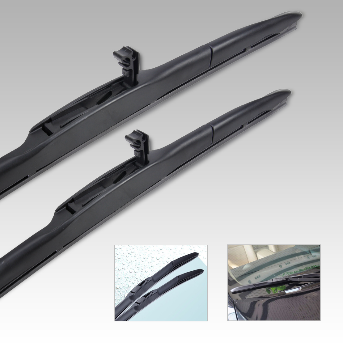 Citall 26 14 hybrid 3 section rubber rain window windshield wiper blade for