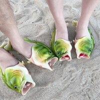2019 модные женские шлепанцы в форме рыбы; Вьетнамки; летние пляжные шлепанцы для пар; дышащая пляжная обувь унисекс