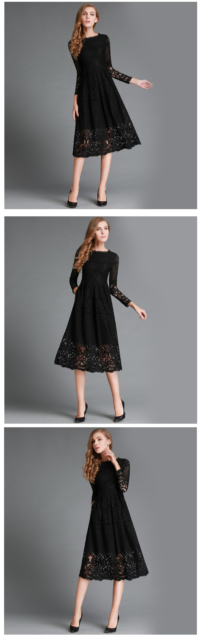 Beauty Long Sleeved Lace Dress 8