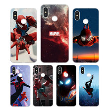 Silicone Case Spider man Iron man Printing for Xiaomi Mi 6 8 9 SE A1 5X A2 6X Mix 3 Play F1 Pro 8 Lite Cover