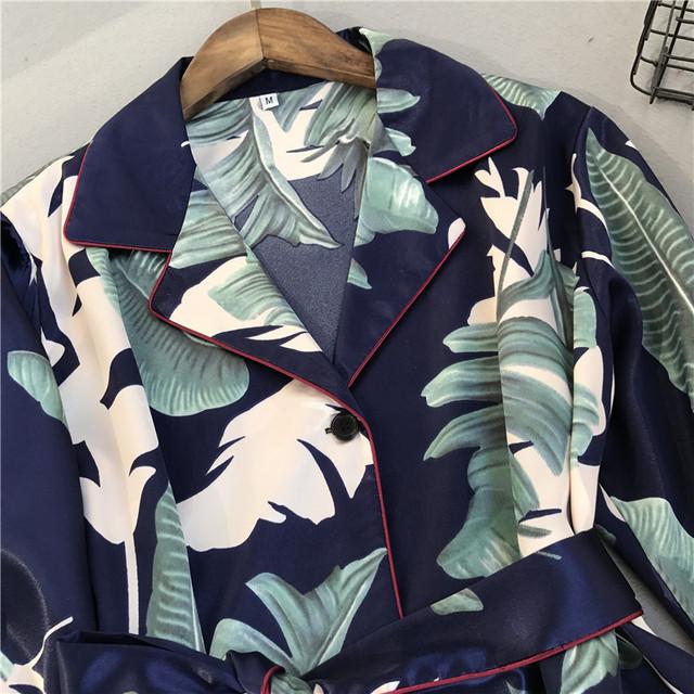 Voplidia Pyjamas Women 2018 New Spring Fall Stitch Pijamas Set Silk Feeling Sleepwear Pajamas for women Pijama Feminino Pyjama