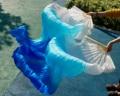 2016 женщина высокое качество Китайский шелк завесы танца болельщики Пара танец живота вентиляторы дешевые горячие продажа Белый + голубой + синий