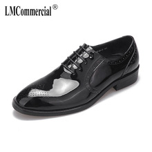 Cowhide Business High Quality Genuine Leather Shoes Men Lace-Up Dress mens casual shoes spring