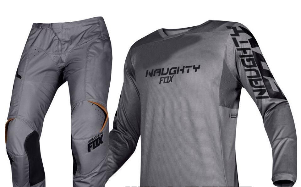2019 vilain FOX MX 180 Prizm pierre gris Jersey pantalon Motocross Gear Set course tout-terrain course équipement pantalon & maillot Combo