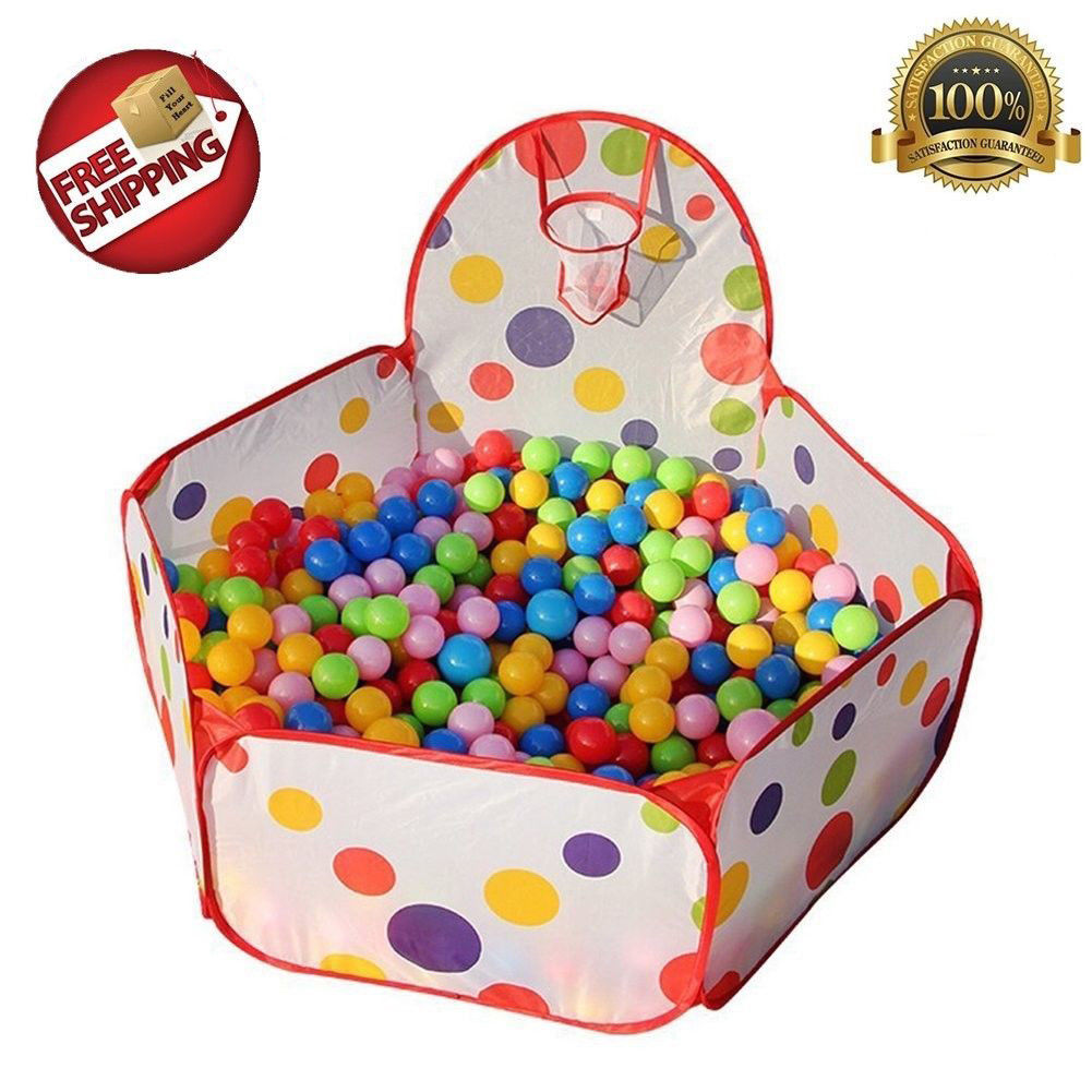 1.2m And 1.5m Toddlers Ball Play Pool Kids Play Toy Tent Playpen Ball Pit Foldable toy Basketball Pit Shoot A Basketball Pool
