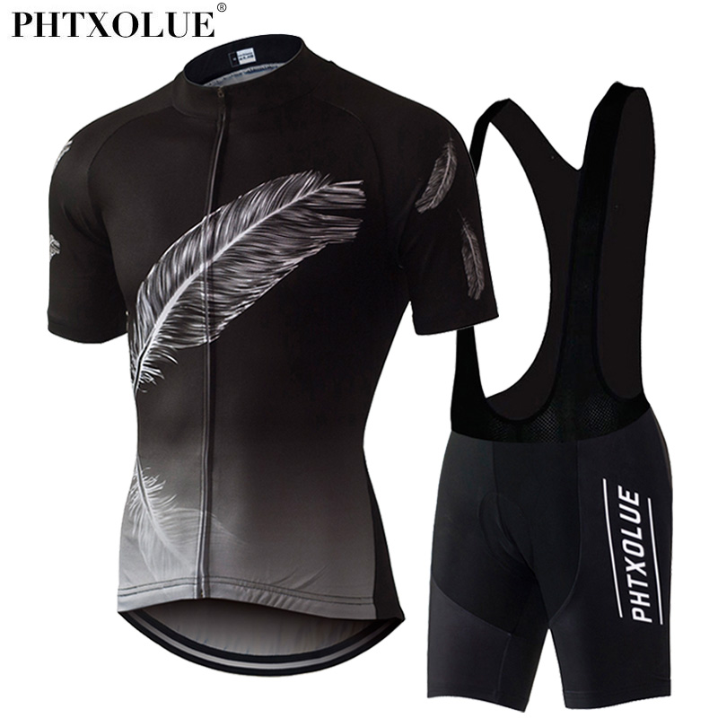 Phtxolue Cycling Clothing 2017 Men Breathable Mountain Bicycle Bike Clothes Ciclismo Wear Suit Cycling Jerseys Set QY0307 aubig cool unisex ladies men summer breathable elasctisch cycling clothing full zip jerseys radshorts suit