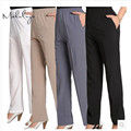 PIKB 2016 Better faux silk trousers fashion women pants high elastic trouser plus size 3XL pants FREE GIFTS