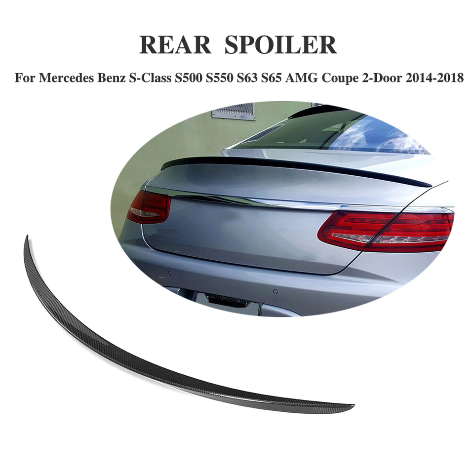 Carbon Fiber Rear Spoiler Fit for Benz S-Class S500 S560 S63 S65 AMG Coupe 14-18