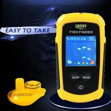 LUCKY Boat Kayak Fish Finder 40m/130ft Wireless Operating Range Fishing Sonar Sensor Transducer Fishing Identifier Detector