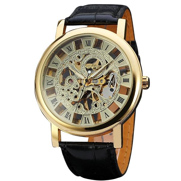 font b WINNER b font Semi automatic Watches for Men s Top Brand Luxury Mechanical