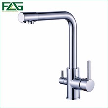 FLG 100% Copper Chrome Polished Swivel Drinking Water Faucet 3 Way Water Filter Purifier Kitchen Faucets For Sinks Taps 242-33
