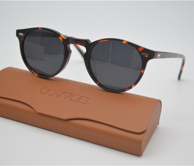 Retro Men's Polarized Sunglasses Male Driving Outdoor Women Oliver Peoples OV5186 47mm Gregory Peck Sun Glasses With Case