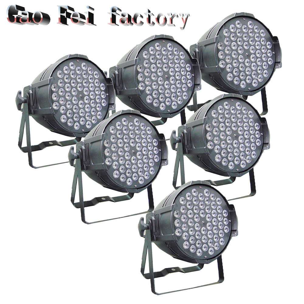 6pcs/lot 54*3W LED PAR Light RGB 3in1 par can dmx stage effect lighting disco bar night club lighting 6pcs lot led par 84x3w rgbw light par64 rgb stage light decoration dmx wedding party bar lighting disco