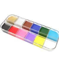 12 Flash Colors Face Body Paint Oil Painting Art Halloween Party Makeup Tools