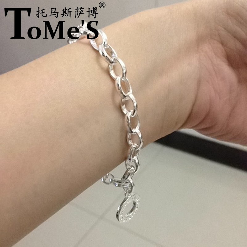 Us 13 2 Western Thomas Sabor New 925 Sterling Silver Basic Bracelet European Jewelry Christmas Gift For Women Men Fit Diy Clasp Charms In Chain