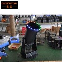 Frete grátis dmx led confetes ventilador  estágio confetes canhão  efeito especial led confetes máquina com 15*3w rgb led 3in1 1200 w|confetti machine|confetti blower|confetti cannon -