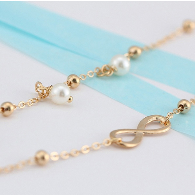 LZHLQ Geometric Metal Letter Anklet Bracelet Maxi Multilayer Foot - Fashion Jewelry - Photo 5