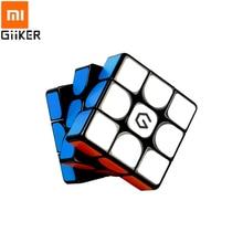 Xiaomi cubo magnético Giiker M3 3x3x3, cubo mágico cuadrado de colores vivos, rompecabezas de ciencia, juguete para regalo