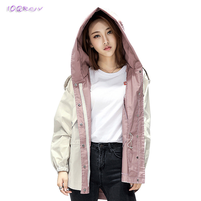 big size Loose female   trench   coat women new fashion Casual short 2018 spring coat women elegant women's windbreaker IOQRCJV T82
