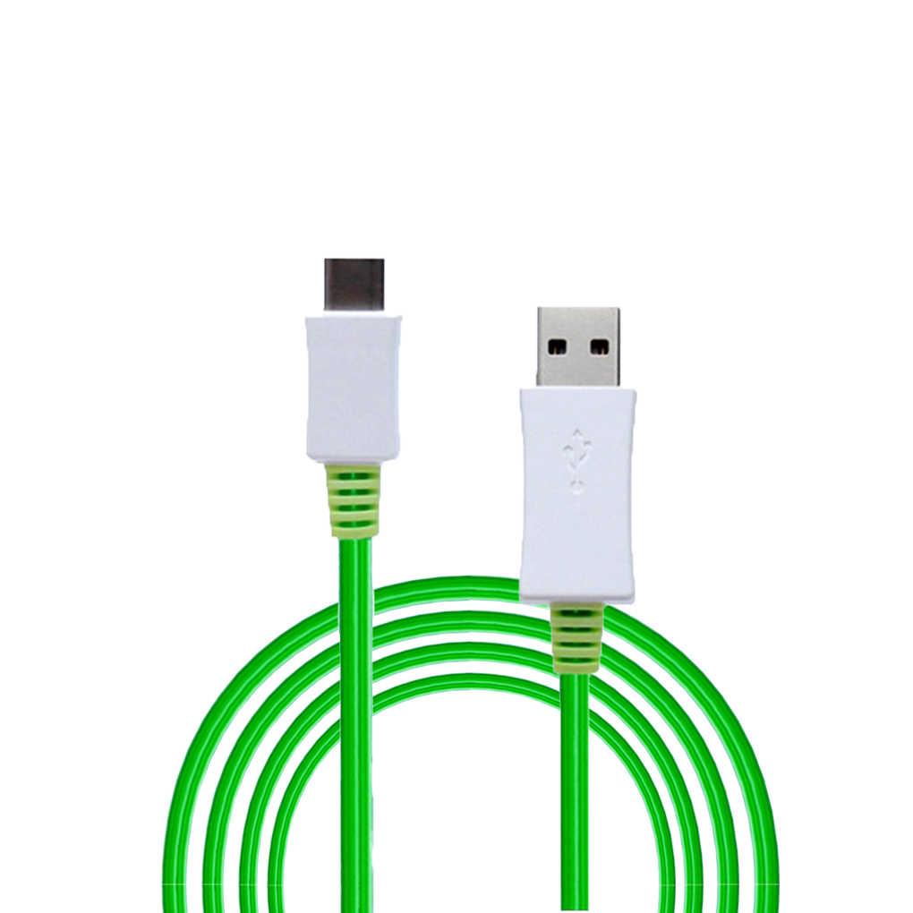 1 м Micro usb кабель для телефона светодиодный поток света Micro usb зарядный кабель синхронизации данных для телефона Android для iPhone 7 8 X кабелей