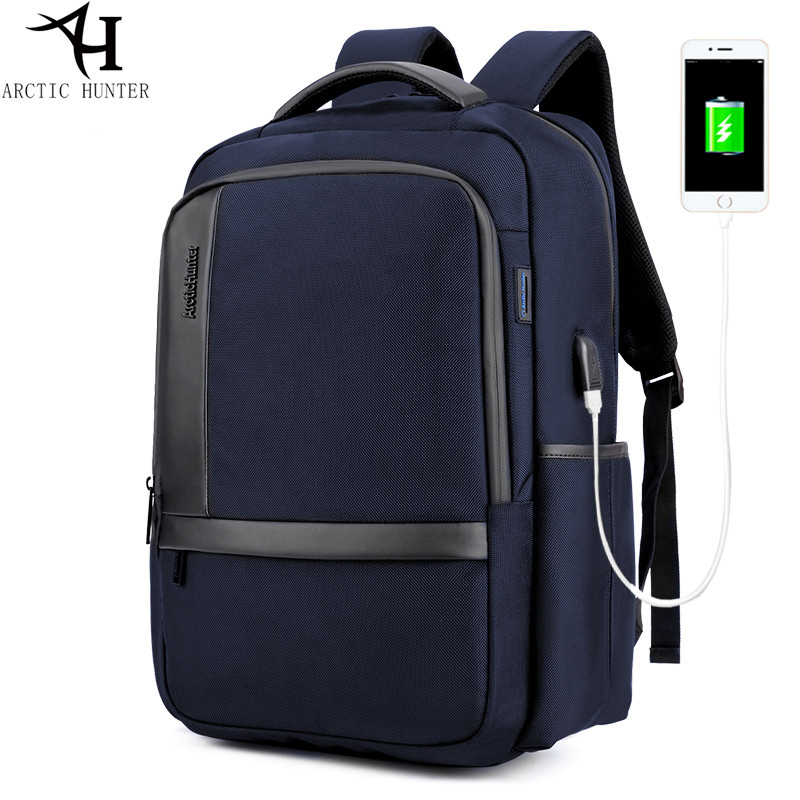 (Shipping From RU) 2018 New Arrival Laptop Backpack Waterproof USB Charger Casual Business Travel Backpack Men waterproof casual waterproof simple men backpack