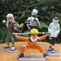 4 шт./компл. наруто узумаки наруто какаши джирайя Shino фигурки аниме пвх brinquedos коллекция цифры игрушки AnnO00639N