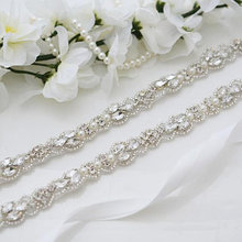 MissRDress свадебное платье пояс для невесты пояс с кристаллами ручной работы из бисера свадебный пояс Стразы для вечерних платьев свадебный пояс JK883