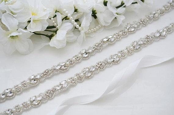 MissRDress Wedding Dress Belt Bridal Belt Crystal Hand Beaded Wedding Belt Rhinestones For Evening Dresses Bridal Belt JK883