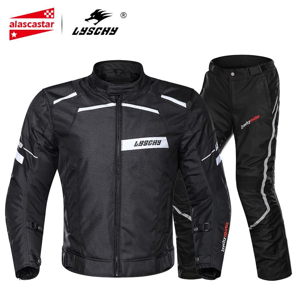 LYSCHY veste de Moto Moto veste d'équitation pantalon imperméable Moto armure corporelle équipement de protection Chaqueta Moto vêtements