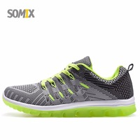Somix New 2017 Super Light Men Running Shoes Mesh Breathable Outdoor Hard Court Sport Shoes Men