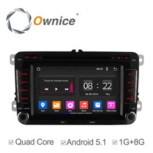 Ownice c180 quad core android 5.1 auto dvd für vw polo jetta Passat CC Tiguan Touran Sharan Caddy Golf 5 6 7 4 GPS PC