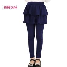 2016 new Arrival Spring Autumn girls leggings Girls Skirt-pants Cake skirt girl baby pants kids leggings 3-11Y Q2306