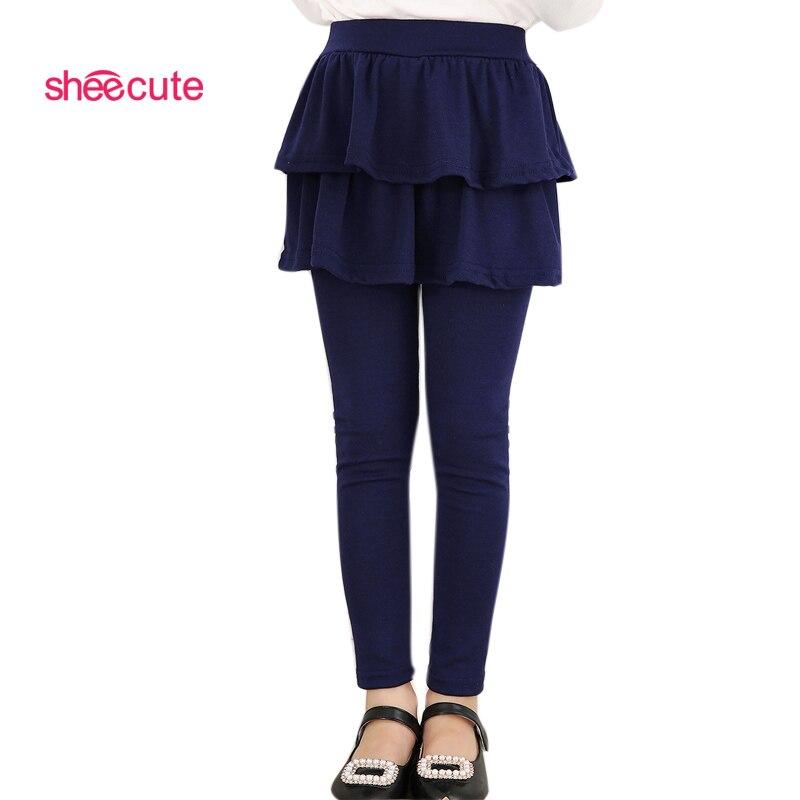 SheeCute/Новое поступление, весенне осенние леггинсы для девочек, многослойная юбка брюки для девочек, штаны для маленьких девочек, детские леггинсы, От 3 до 11 лет, Q2306 autumn girls leggings kids leggingsgirls leggings   АлиЭкспресс