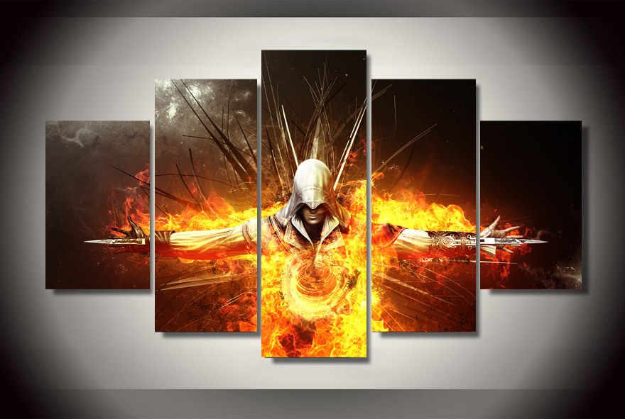 5 Pieces/set Wall Art For Movie poster series Wall Decor Home Decoration Picture Paint on Canvas Prints Painting