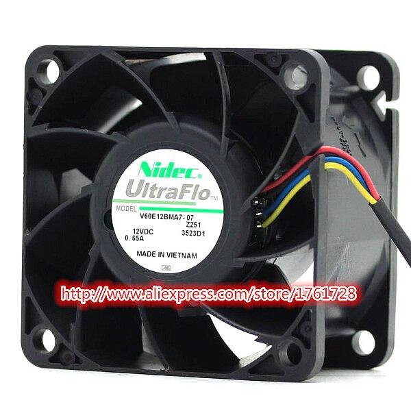 Original 2415KL-04W-B89 6cm 6038 60x60x38mm 12V 1.65A 3 line server chassis cooling fan