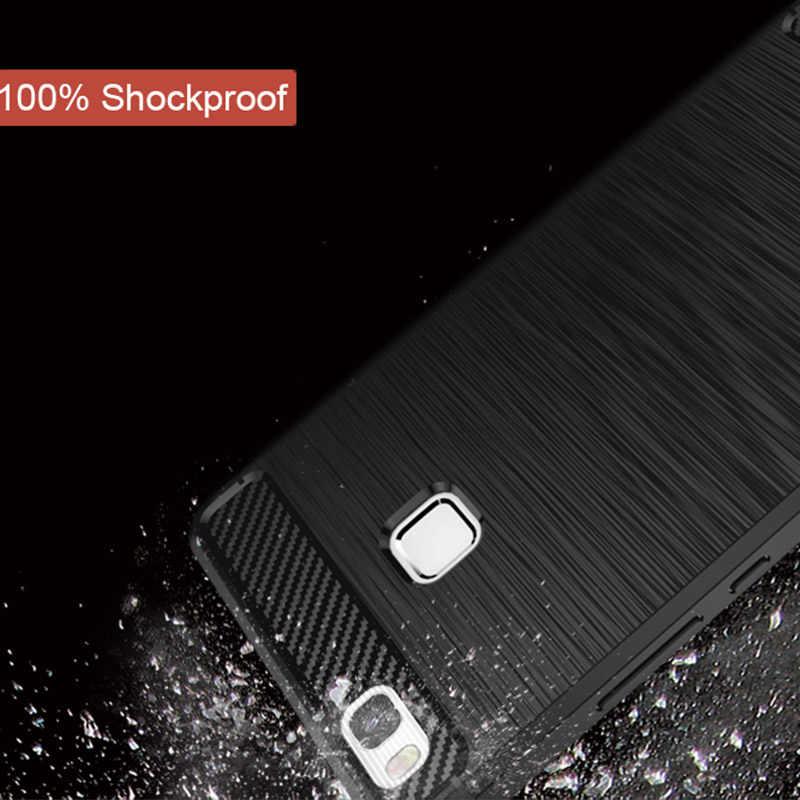 TOMKAS huawei P9 Lite чехол, роскошный противоударный силиконовый чехол для телефона, задняя крышка для huawei P9 Lite 2016 чехол s, чехол из углеродного волокна
