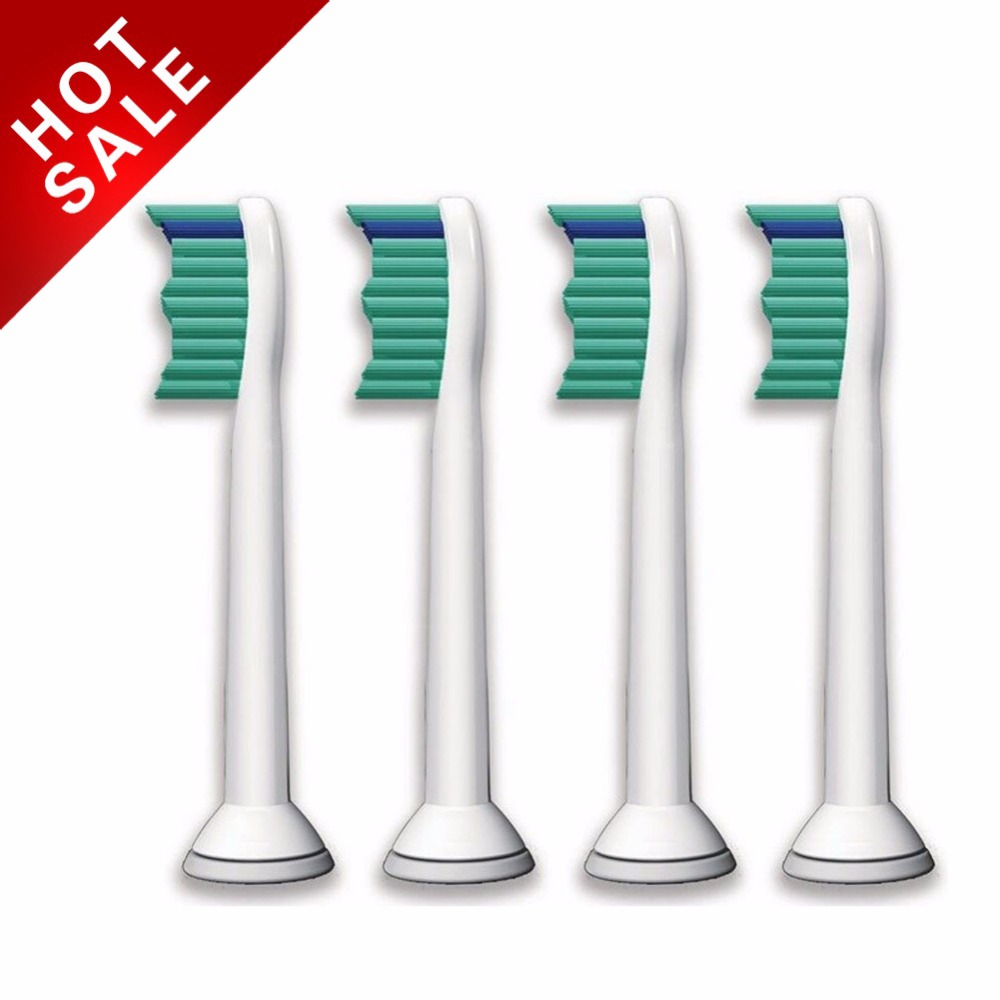 4pcs/lot Replacement Toothbrush Heads for Philips Sonicare ProResults HX6013/66 HX6530  HX9340 HX6930 HX6950 HX6710 HX9140 electric toothbrush replacement heads fits for philips proresults sonicare hx6730 hx6942 p hx 6013