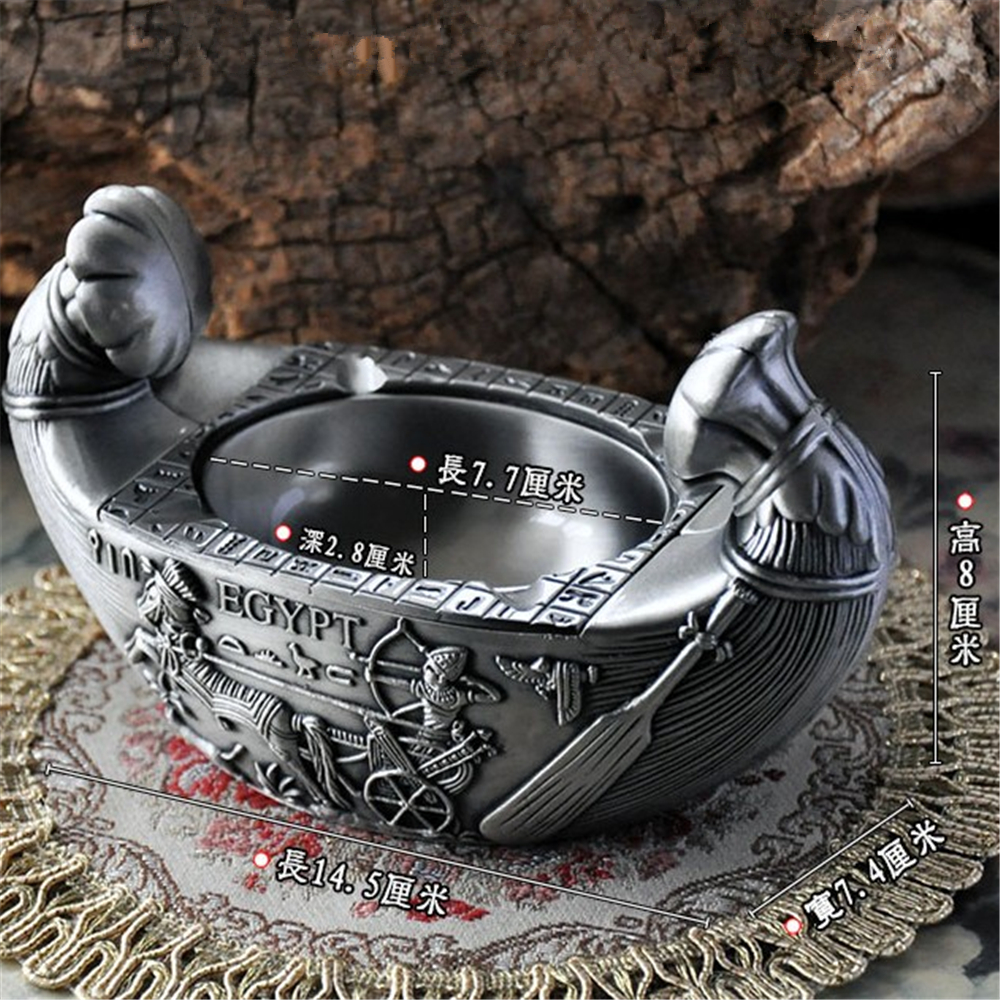 High Quality European Ashtray Noah's Ark Smoking Accessories Zinc Alloy Ashtray Home Office Desk Decoration Best Gift цена
