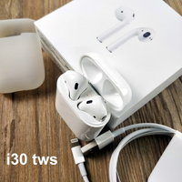 i30 I20 Pop UP air TWS 1:1 6D Super Bass Touch contorl Wireless Tws Bluetooth headphones earphone headsets Earphones PK W1 Chip