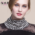 The New Female Knitted Wool Scarf All-match Winter Warm Set Small Head Collar 100% Wool Scarf