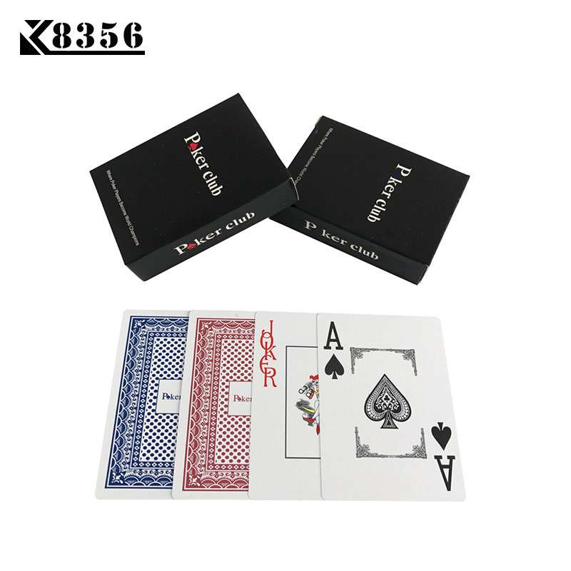 K8356 Halus Tahan Air 2 Sets / Lot Baccarat Texas Hold'em Plastik Bermain Kartu PVC Kartu Poker Klub Papan Game 2.48 * 3.46 inch