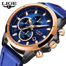 LIGE New Men Watches Man Clock 2019 Top Brand Luxury Army Military Steampunk Sports Male Quartz-Watch Men Hodinky Relojes Hombre(China)