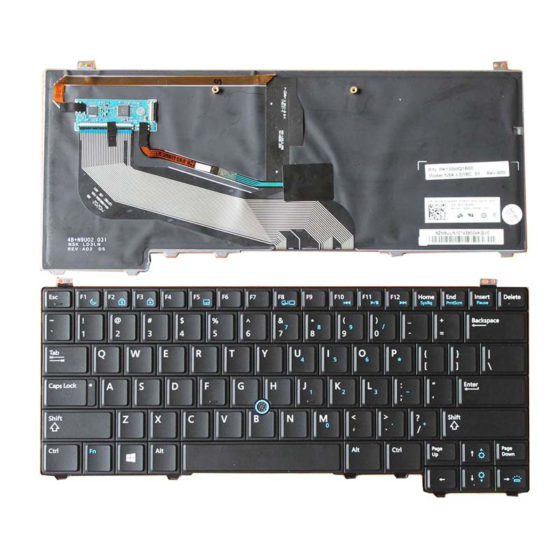 NEW for DELL Latitude E5440 Laptop Keyboard US Black WITH Mouse Pointer backlit 03KK86 V141025CS1