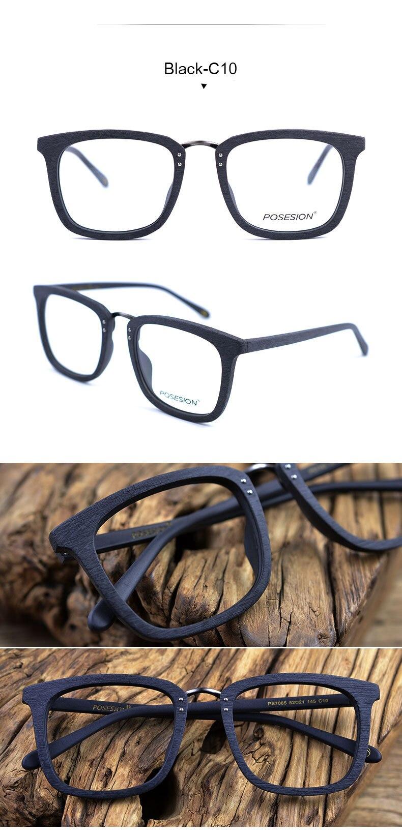 Hdcrafter quadros de óculos de madeira homem