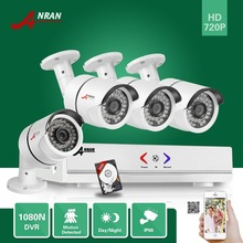 ANRAN 4CH 1080N AHD DVR 4pcs 1800TVL 720P 36IR Waterproof CCTV Video Security Camera Home Surveillance System With 500GB HDD